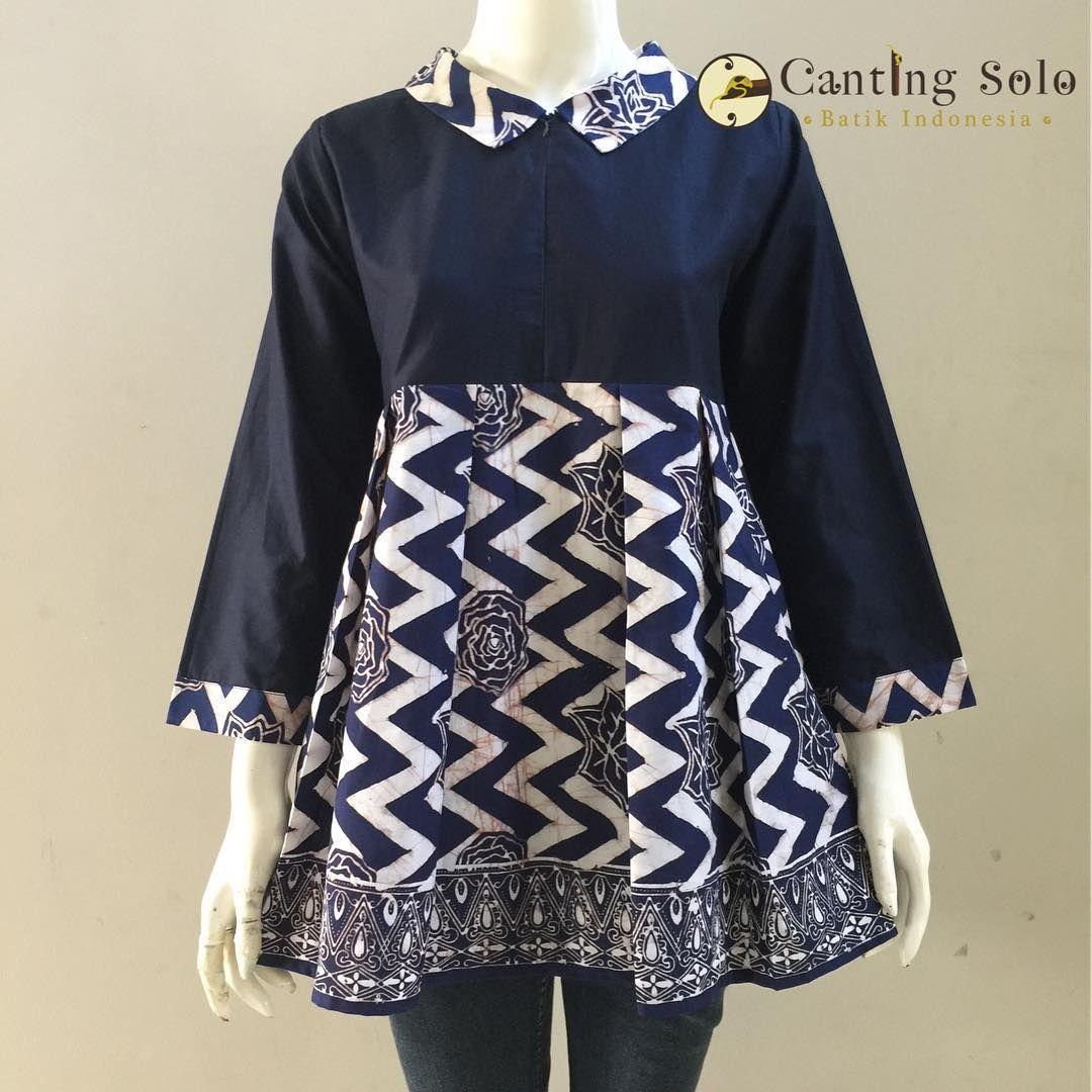 Model Baju Batik Kerja Atasan Muslim: Pin Oleh Ratih Kadarwati Di Kebaya - Batik