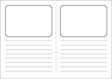 blank book template for kids - foldable story book writing frame template sb3831