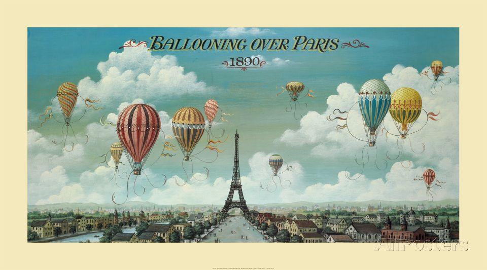 Ballooning Over Paris Art Print at AllPosters.com
