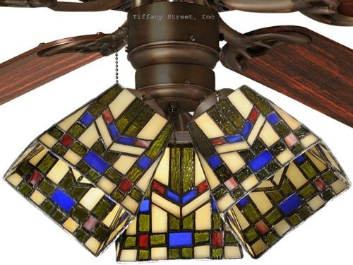 Tiffany street 259540001 mission wheat stained glass ceiling fan glass tiffany street 259540001 mission wheat stained glass ceiling fan aloadofball Image collections