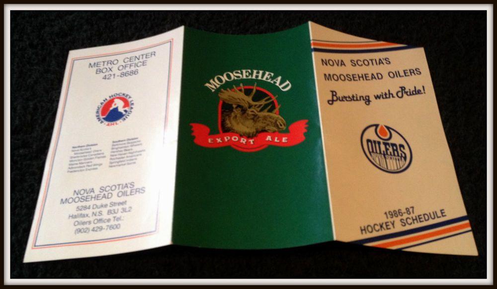 198687 NOVA SCOTIAS MOOSEHEAD OILERS HOCKEY POCKET