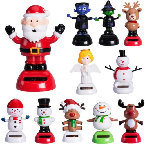 hot christmas halloween style solar powered for car swing dancing novelty toy gift decoration