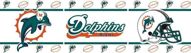 miamidolphinswallborder Miami dolphins, Dolphins, Miami