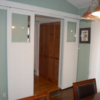 Craftsman Style Sliding Doors   Use Pocket Door Hardware On The Outside!