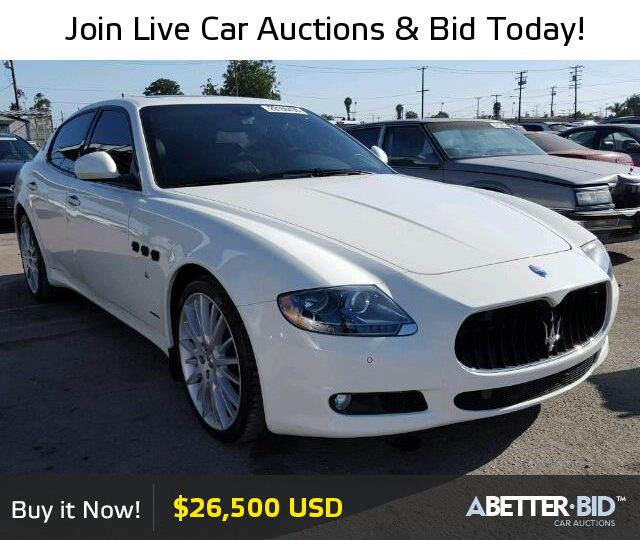 Salvage 2013 MASERATI ALL MODELS For Sale