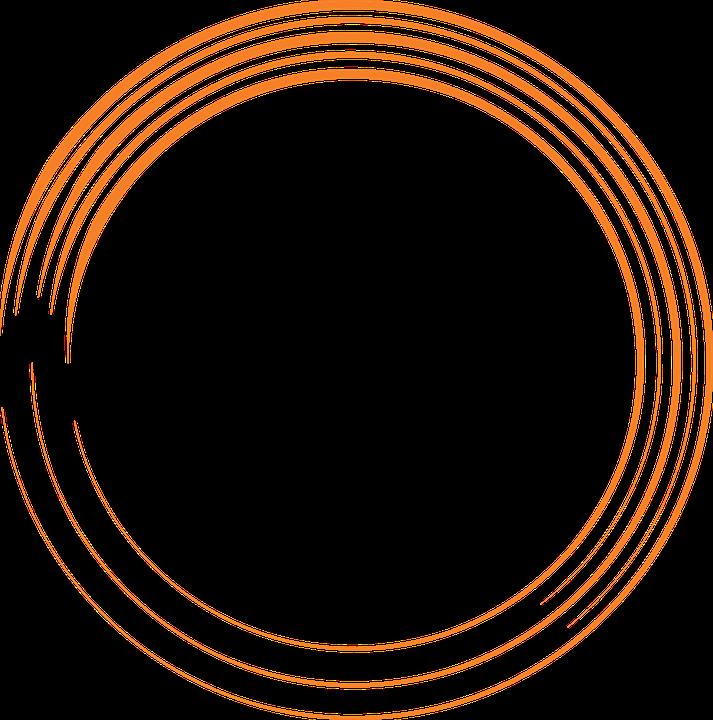 Free Image On Pixabay Orange Round Circle Paint Brush Circle Logo Design Circle Ring Logo