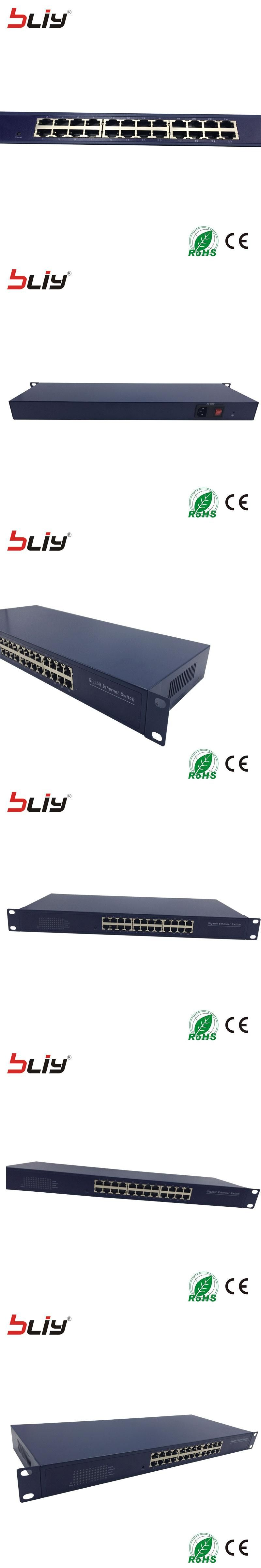 24 Port Switch Hub Gigabit Ethernet Rj45 Utp Unmanaged Layer 4 Way Box 2 Etherent Switcher Price For 19 Chassis