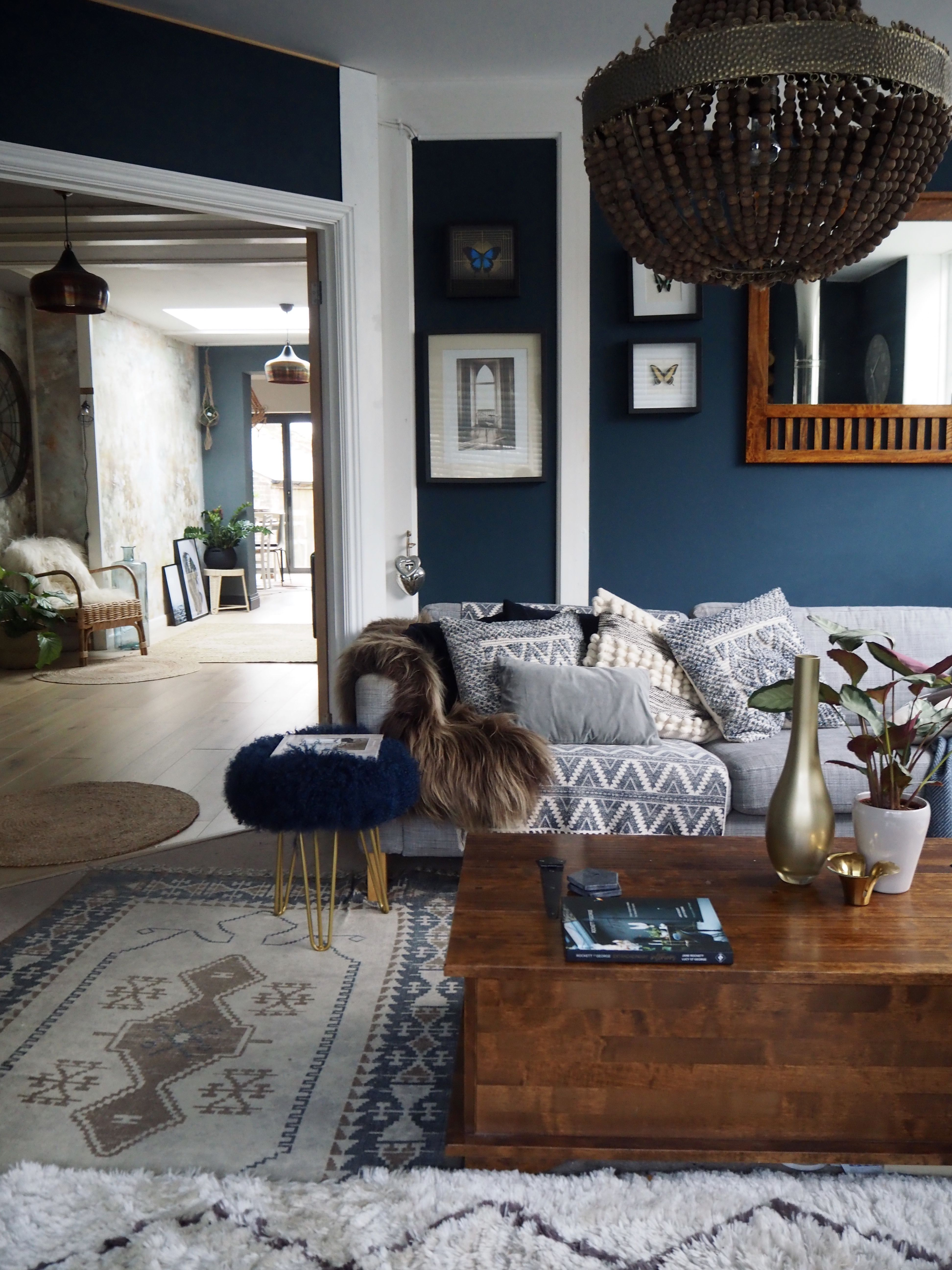 Best Blue Living Room Blue And Copper Living Room Copper 400 x 300