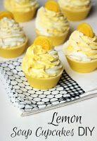 Making Scentz (aka Homemade Bath Products): Lemon Cold Process Soap Cupcakes DIY