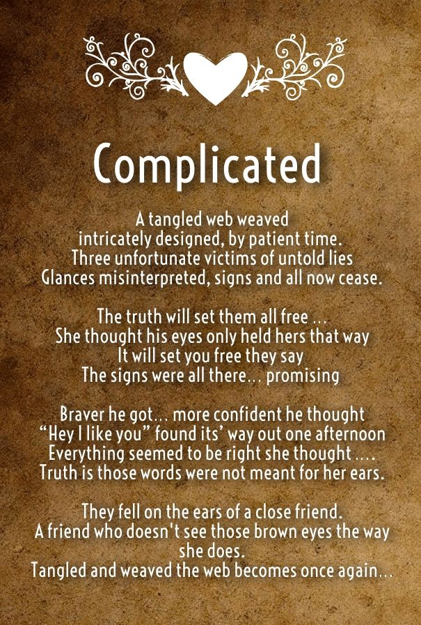 Some good complicated love poems romantic for her