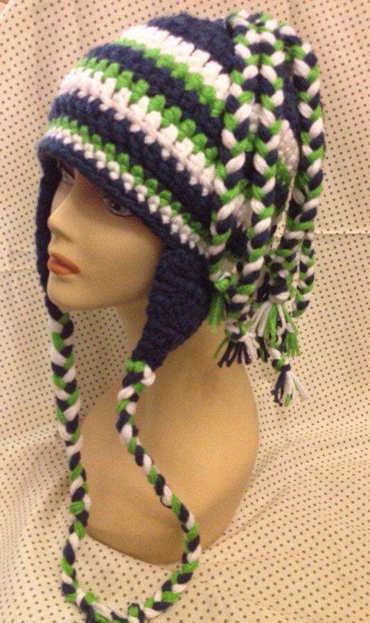 Crochet Seahawks Hat on Etsy, $30.00 | Seahawks | Pinterest | Hauben ...
