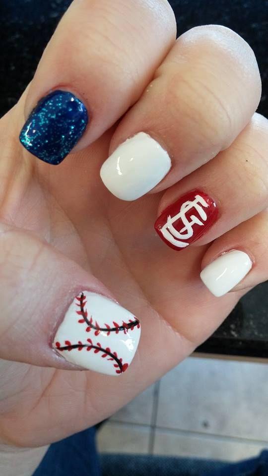 Stlouis Cardinals Nail Art Nails Pinterest St Louis