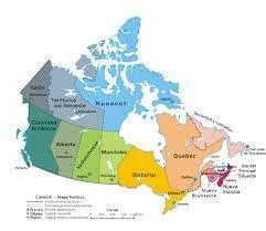 Mapa Politico De Canada Con Nombres Buscar Con Google