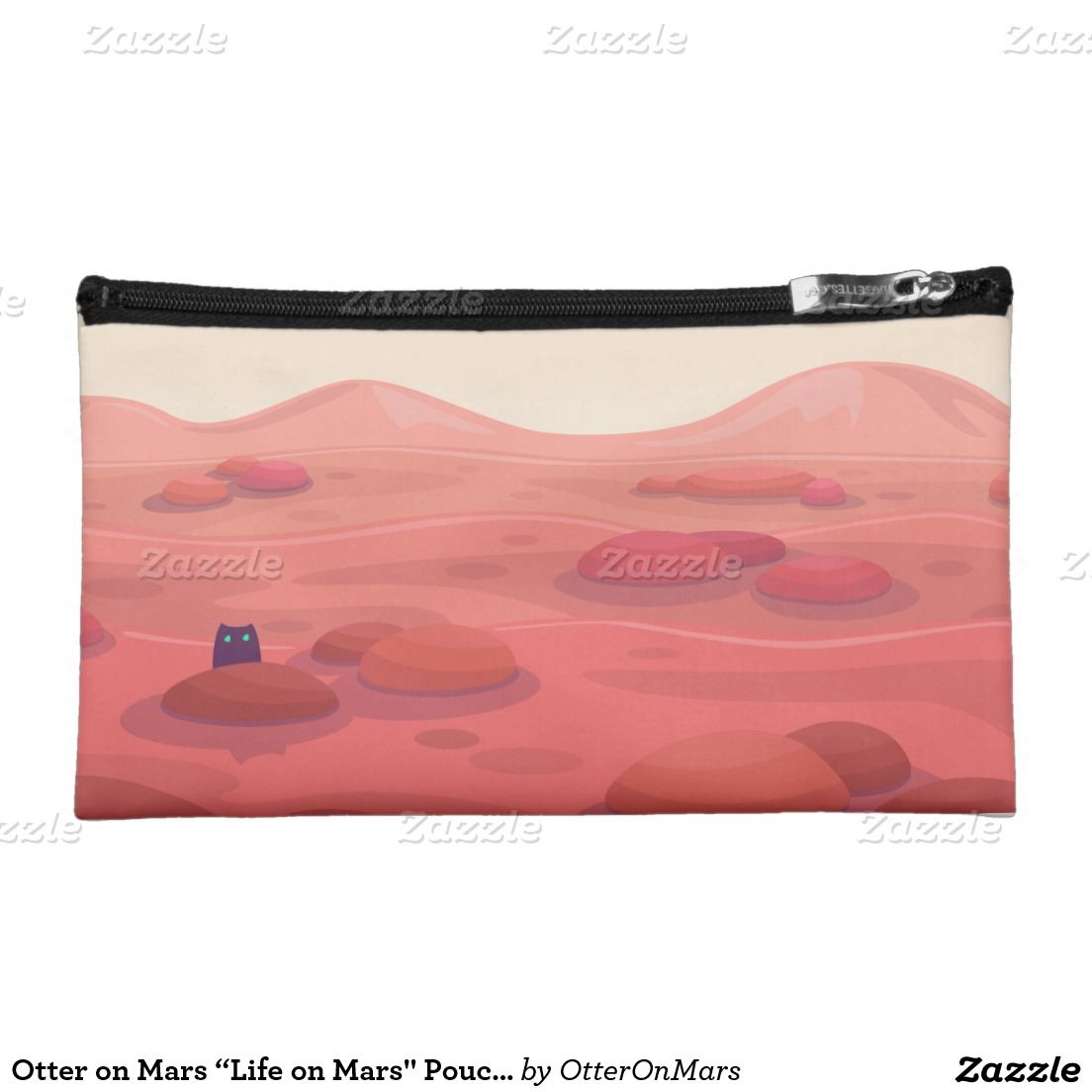 "Otter on Mars ""Life on Mars"" Pouch Bag"