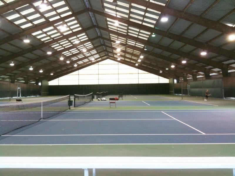 INDOOR TENNIS COURTS Indoor tennis, Tennis court, Tennis