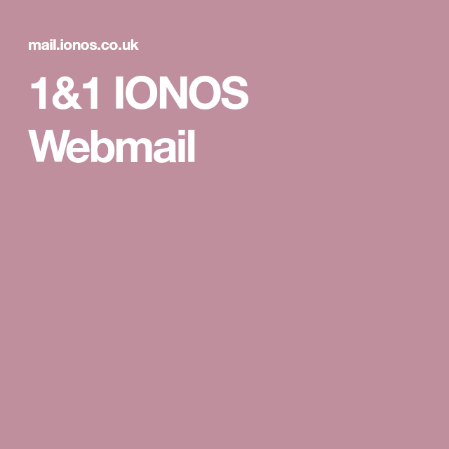 1 1 Ionos Webmail With Images Webmail Co Uk Gaming Logos