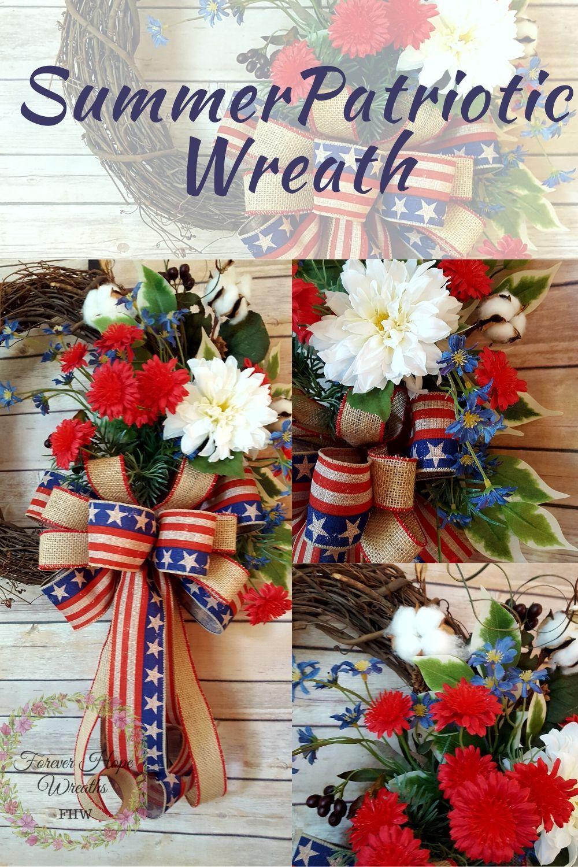 Photo of Patriotic summer wreath