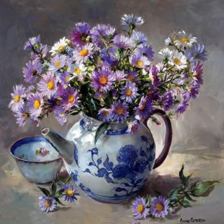 Anne cotterill michaelmas daisies reminds me of you