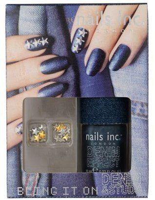 Nails Inc Bling it On Denim Studs Henri Bendel