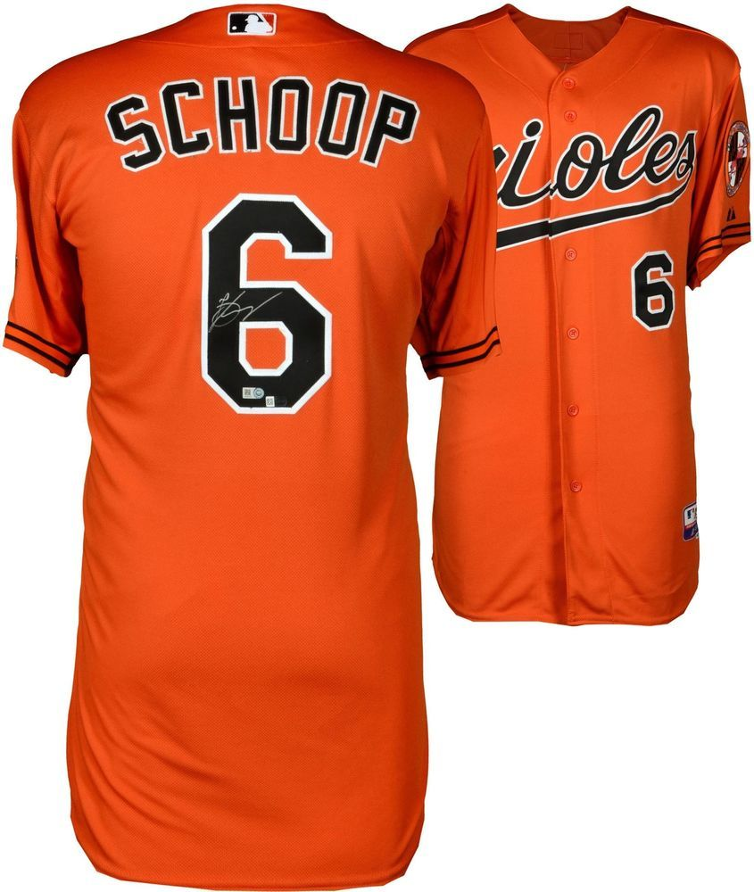 9b97ab407 Jonathan Schoop Orioles Autographed Orange Authentic Cool Base Jersey -  Fanatics  Baseball