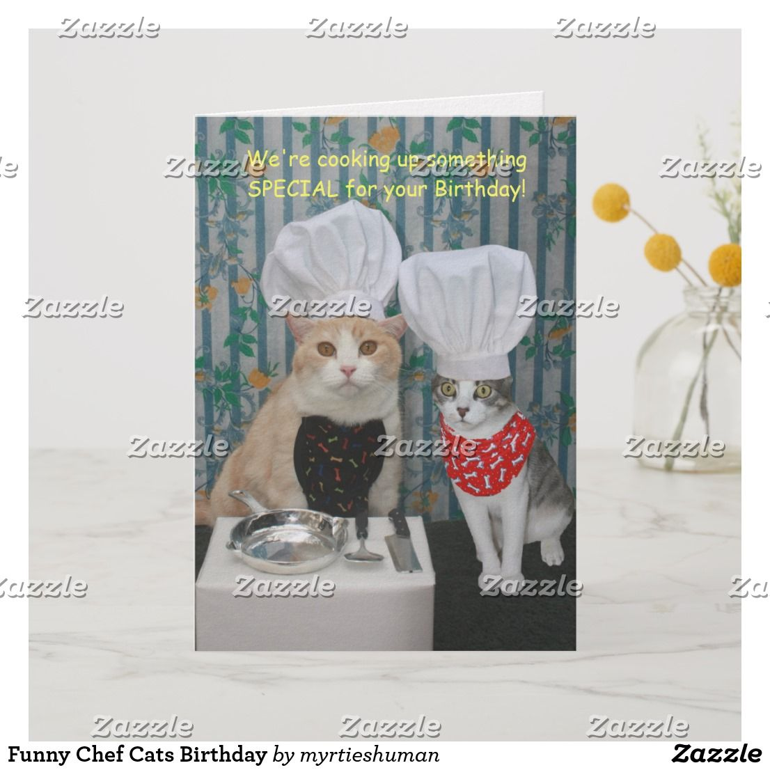 Funny Chef Cats Birthday Card Birthday Cards Gifts Cakes
