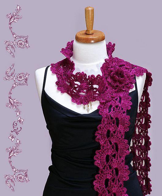 Queen Anne\'s Lace Scarf pattern by Christiane Klink | Pinterest ...
