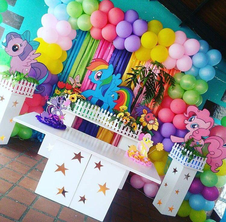 Little pony ballon deco pinterest fiestas for Regalos para fiestas de cumpleanos infantiles