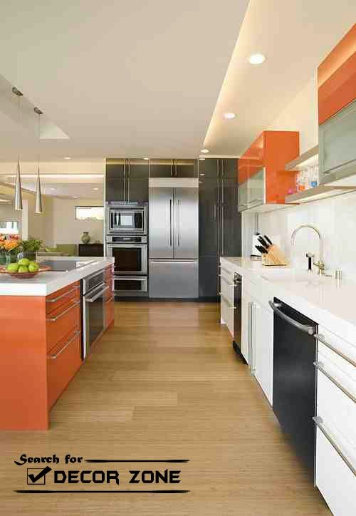black-white-orange kitchen decor | décor | pinterest | orange