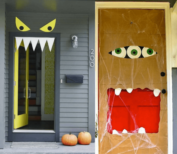 Festa Halloween Idee.10 Idee Buffe Per Decorare La Porta A Halloween October Idee