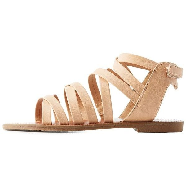 33b1cdb78ade Charlotte Russe Caged Flat Sandals ( 20) ❤ liked on Polyvore featuring shoes