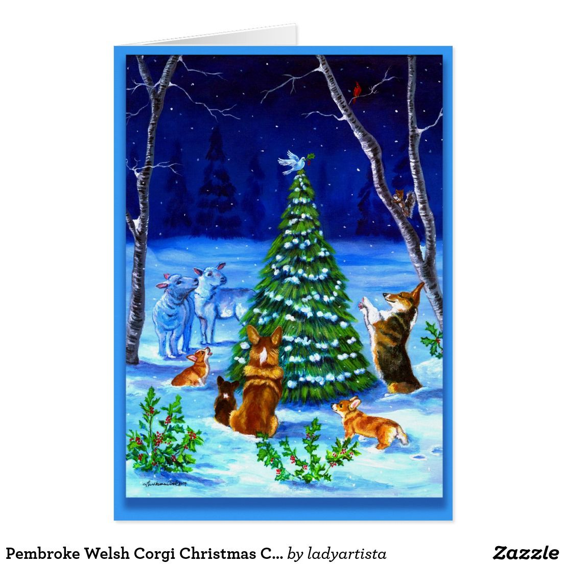 Pembroke welsh corgi christmas card custom christmas greetings pembroke welsh corgi christmas card kristyandbryce Image collections