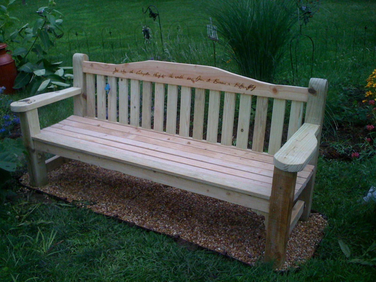 Wood memorial benches for gardens garden ftempo