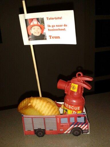 Brandweer Traktatie Met Echte Brandblusser Brandweerman Feestje Verjaardagsfeestje Ideeen Traktaties