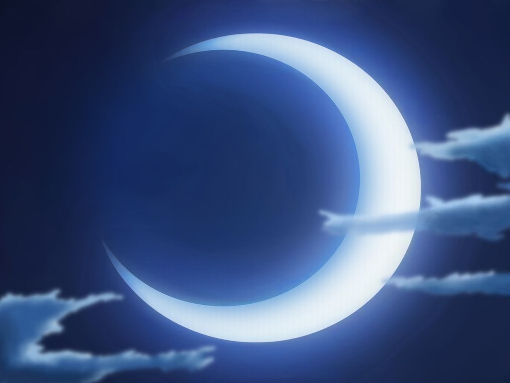 Blue Crescent Moon Wallpaper Desktop