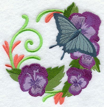 Butterfly Wreath Design G9533 From Emblibrary Embroidery