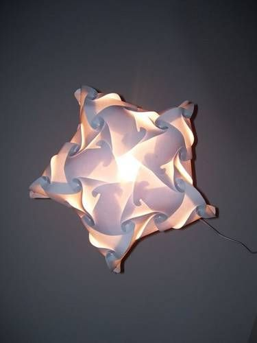 Eco Architecture Eco Living Designer Ceiling Lamp Shade Puzzle Lamps Paper Lamps In 2020 Origami Lights Puzzle Lights Lamp