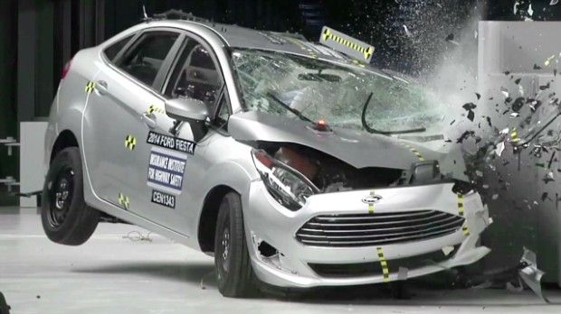 Small Cars Get Crushed In Crash Tests Small Cars Car Crash Car