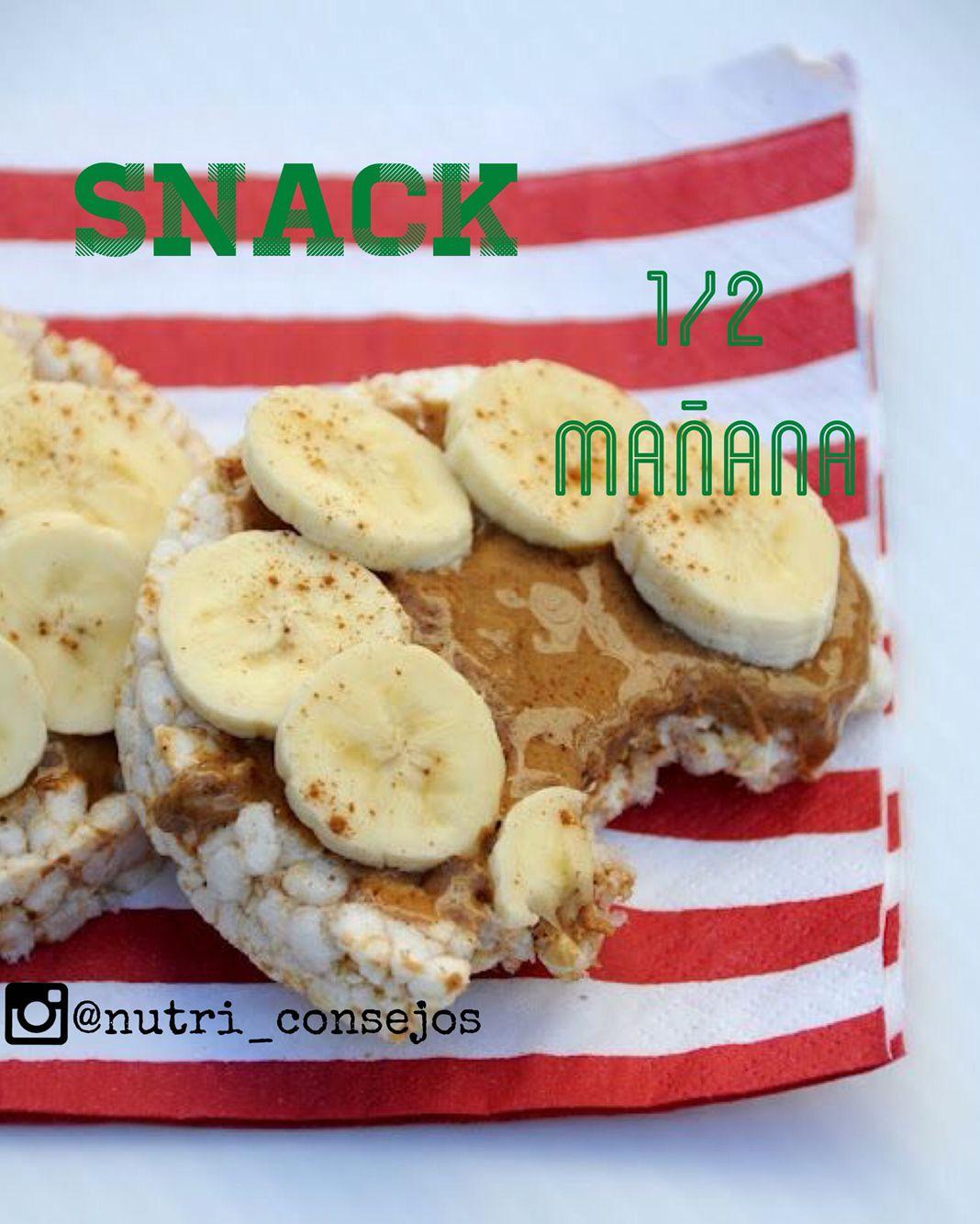 #snack #discos de #arroz #integral #banana