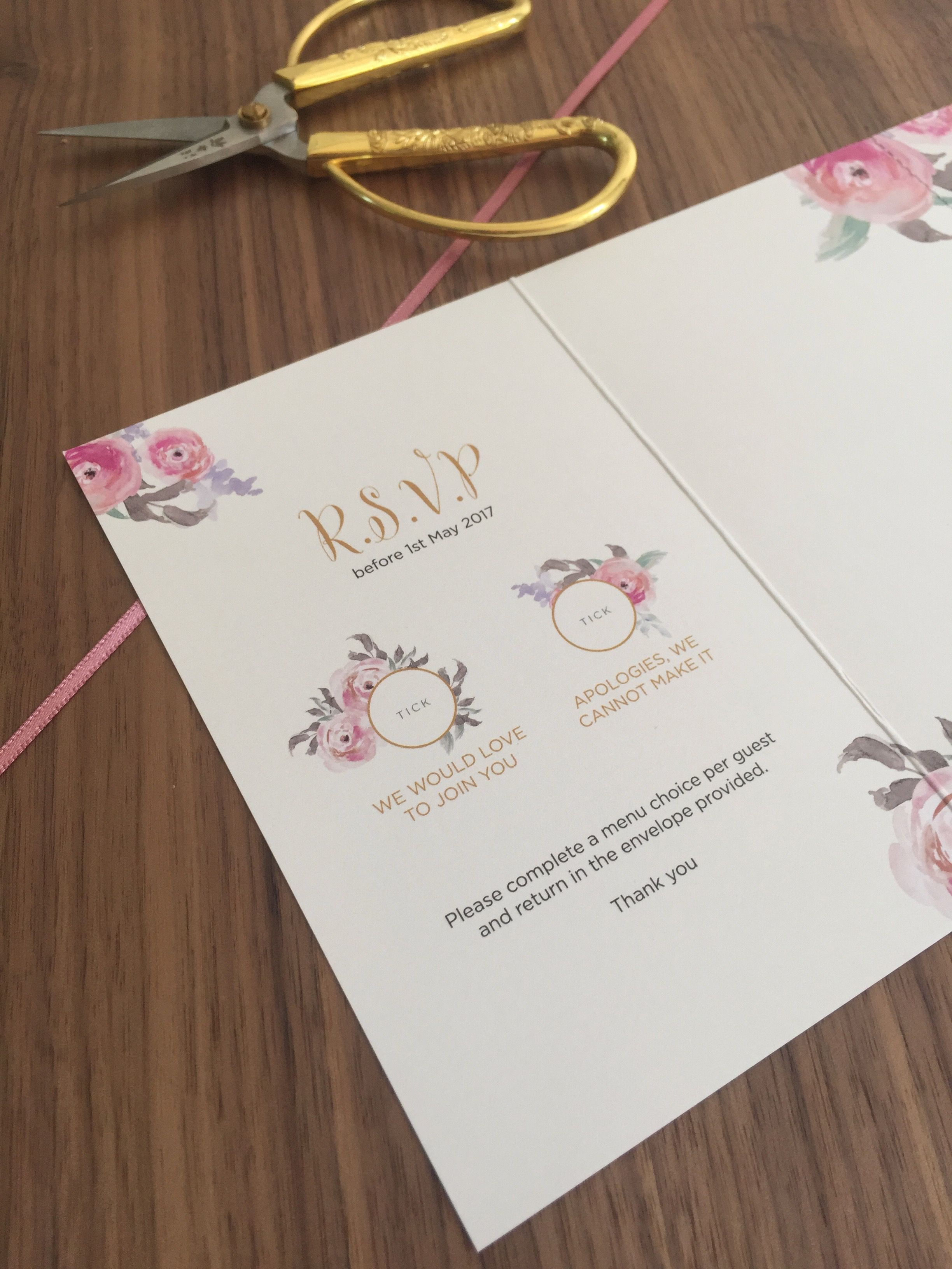 Wedding Invitations / Bespoke Wedding Stationery / Grey and Pink ...