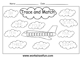 number words worksheet for kindergarten에 대한 이미지 검색결과