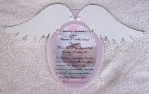 Custom Angel Wing Invitation/Announcement Set