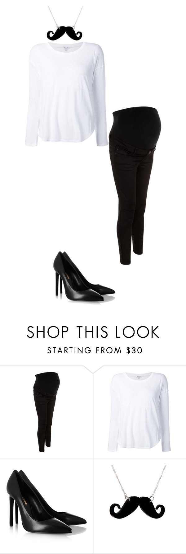 """""""#3809"""" by ferfletcher ❤ liked on Polyvore featuring New Look, Splendid, Yves Saint Laurent and Tatty Devine"""