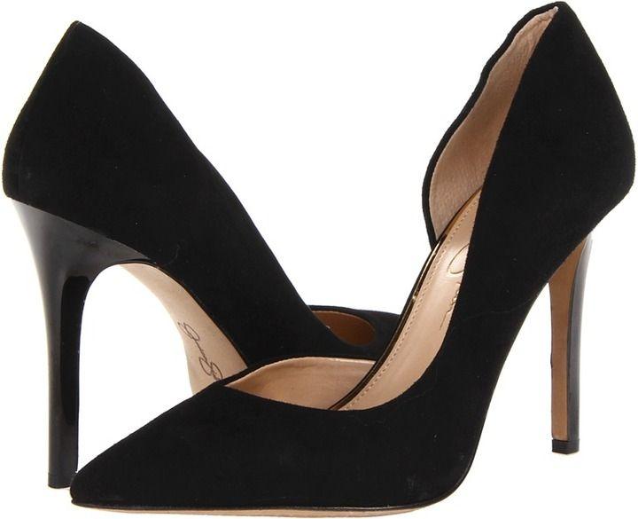 ce3c39121b2 Jessica Simpson Claudette (Black Kid Suede) - Footwear on shopstyle ...