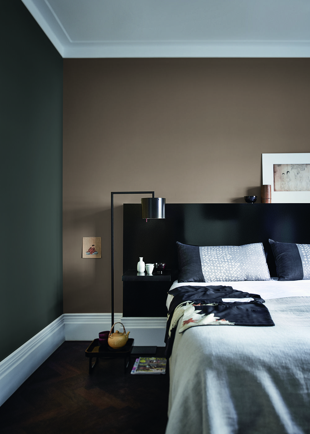 Beroemd Slaapkamer met Flexa Creations kleuren: Industrial Grey, Authentic &YD39