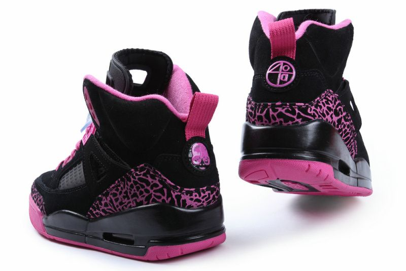 pink+and+black+jordans | Womens Air Jordan SPIZIKE Black Pink Shoes