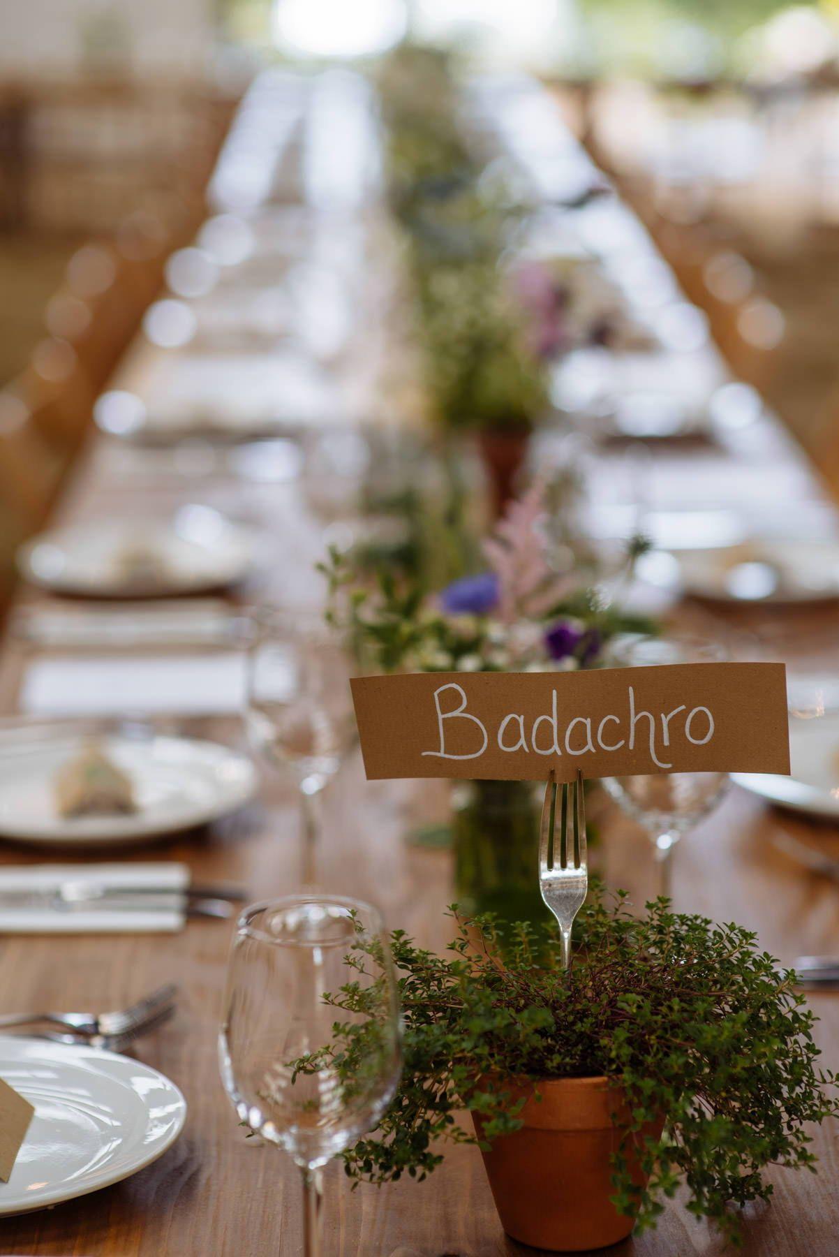 Rustic Wedding Table Decor Plant Pots