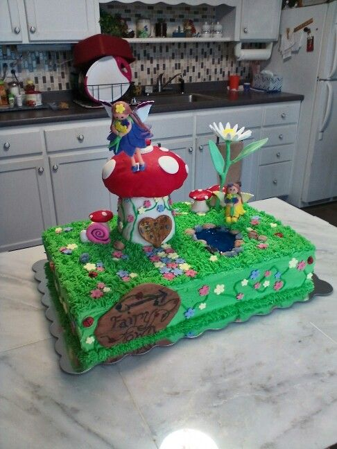 Enchanted fairy garden cake | Fairy birthday cake, Fairy ...