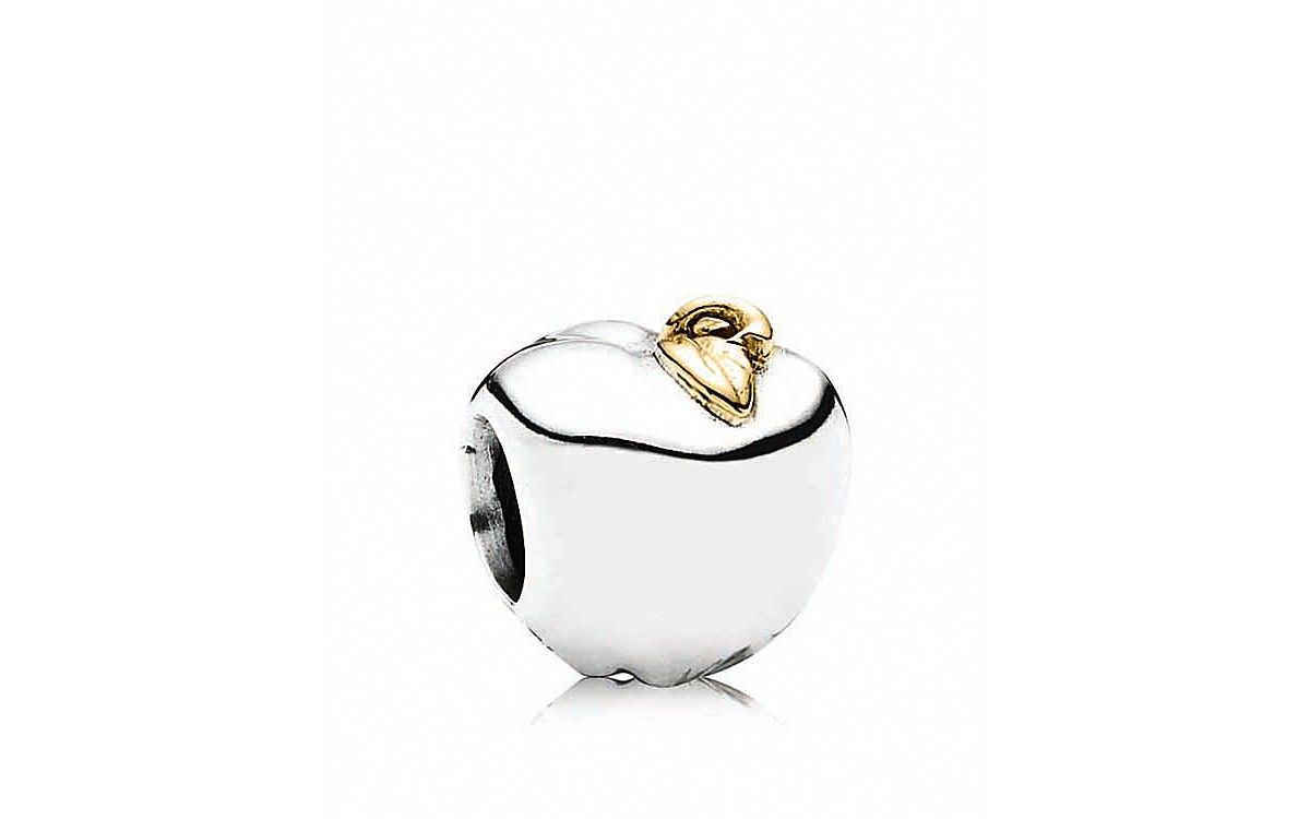 Pandora Disney Snow White's Apple & Heart Charm A NEW