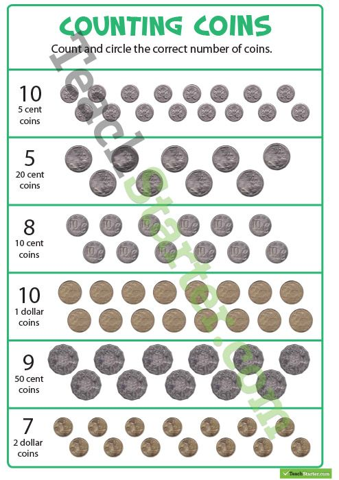 counting coins worksheet teaching resource maths teaching resources pinterest counting. Black Bedroom Furniture Sets. Home Design Ideas