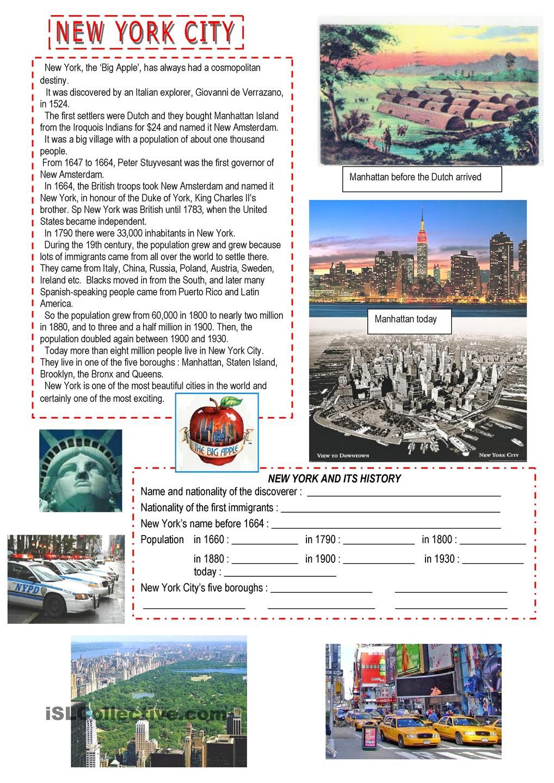 New York New York English Lessons English Reading Teaching English Reading comprehension test immigration